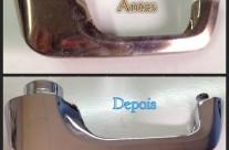 Puxador de porta em anti-monio